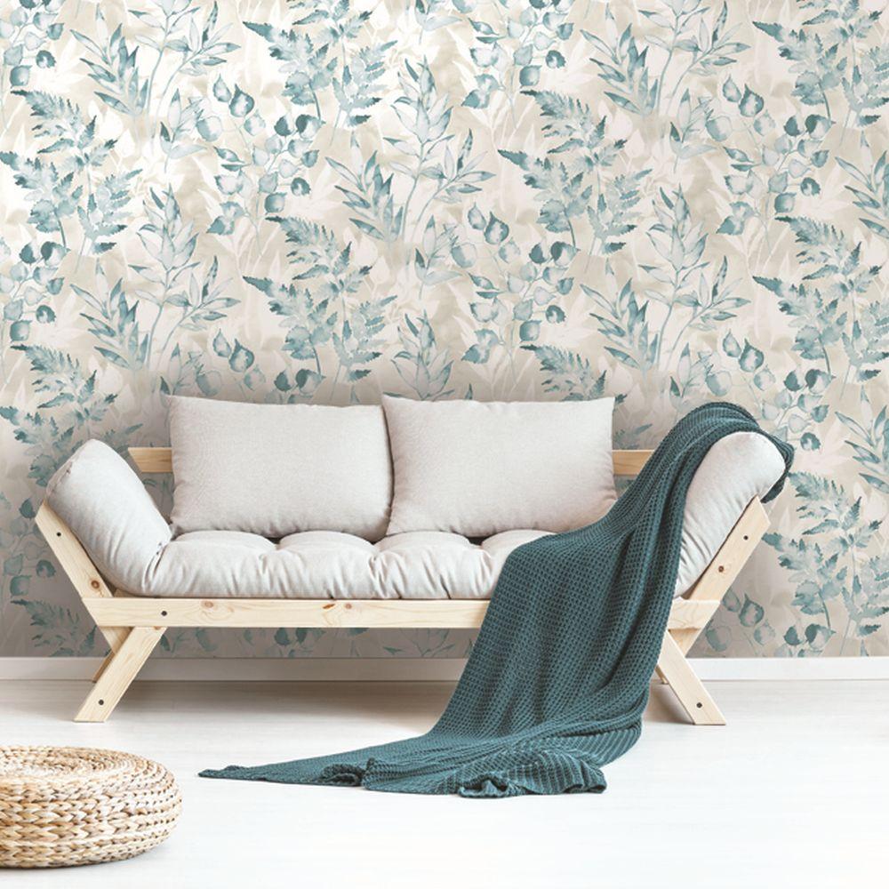 Albany Cedar Teal Wallpaper - Product code: 90292