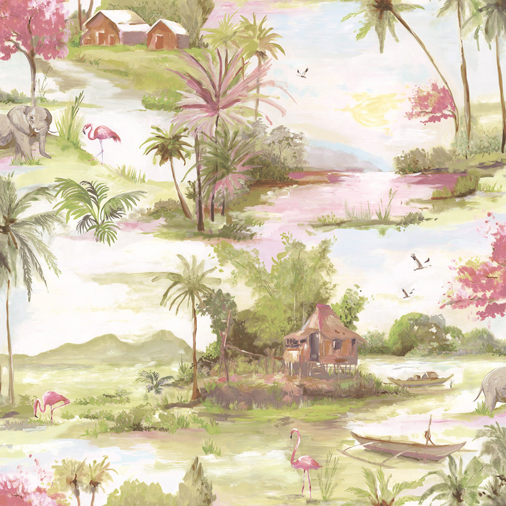 Albany Horizon Multi and Pink Wallpaper - Product code: 90311