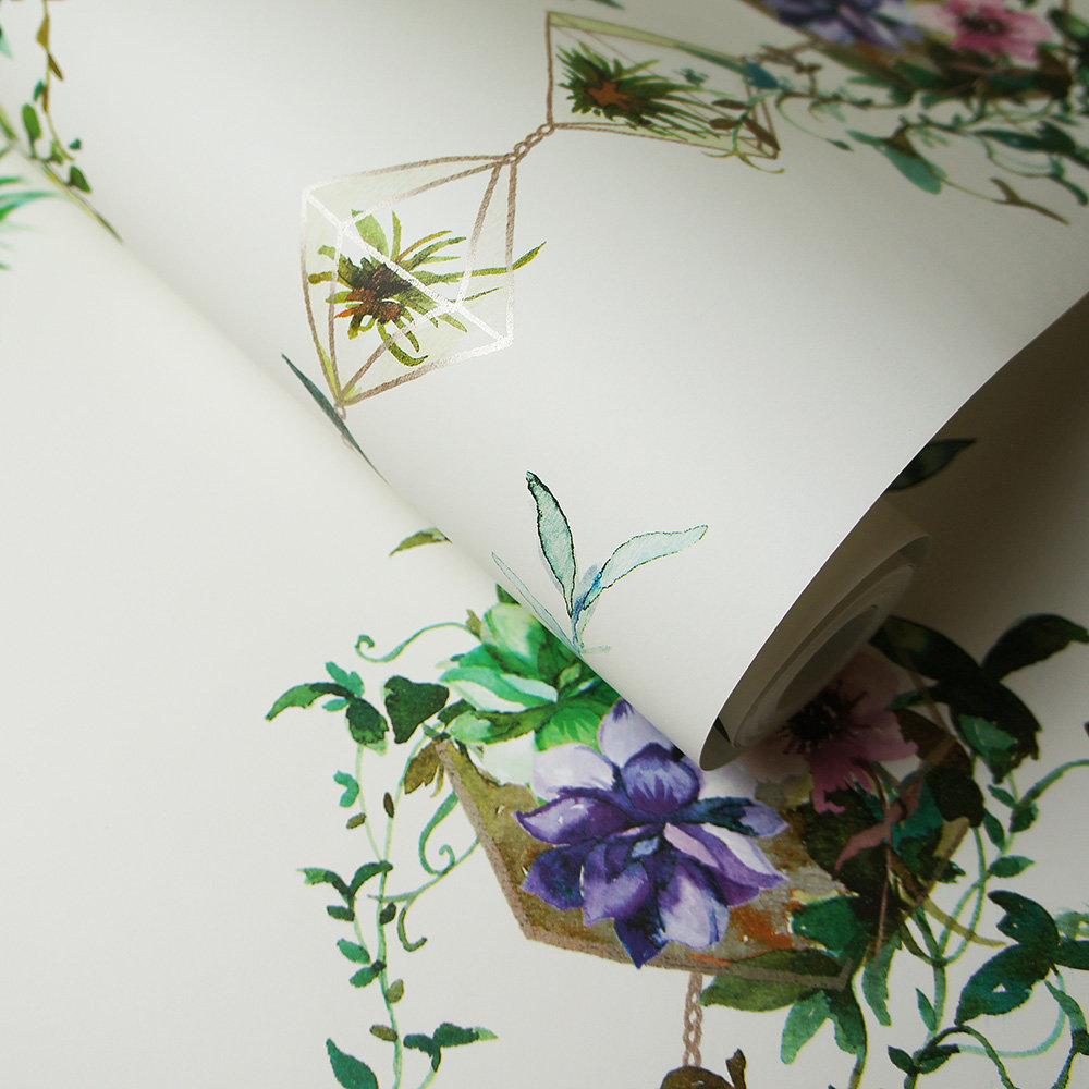 Albany Botany White Wallpaper extra image
