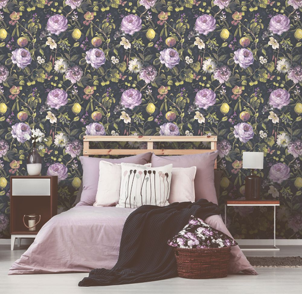 Albany Mirabelle Charcoal Wallpaper - Product code: 90350