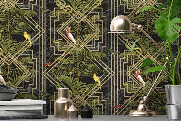 Albany Amazon Black and Gold Wallpaper - Product code: 90362