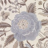 Missoni Home Oriental Garden Off White and Pale Blue Wallpaper