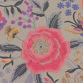 Missoni Home Oriental Garden Coral and Taupe Wallpaper