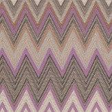 Missoni Home Zig Zag Purple and Blush Wallpaper