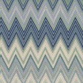 Missoni Home Zig Zag Green and Deep Blue Wallpaper