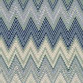 Missoni Home Zig Zag Green and Deep Blue Wallpaper