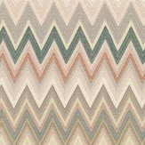 Missoni Home Zig Zag Off White and Pale Pink Wallpaper