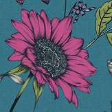 Arthouse Botanical Songbird Teal Wallpaper