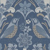 Arthouse Folk Floral Blue Wallpaper