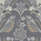 Arthouse Folk Floral Grey Wallpaper - Product code: 676003