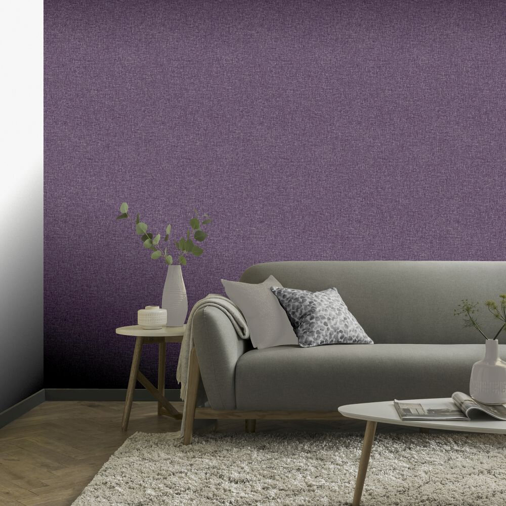 Arthouse Linen Texture Heather Wallpaper - Product code: 676005