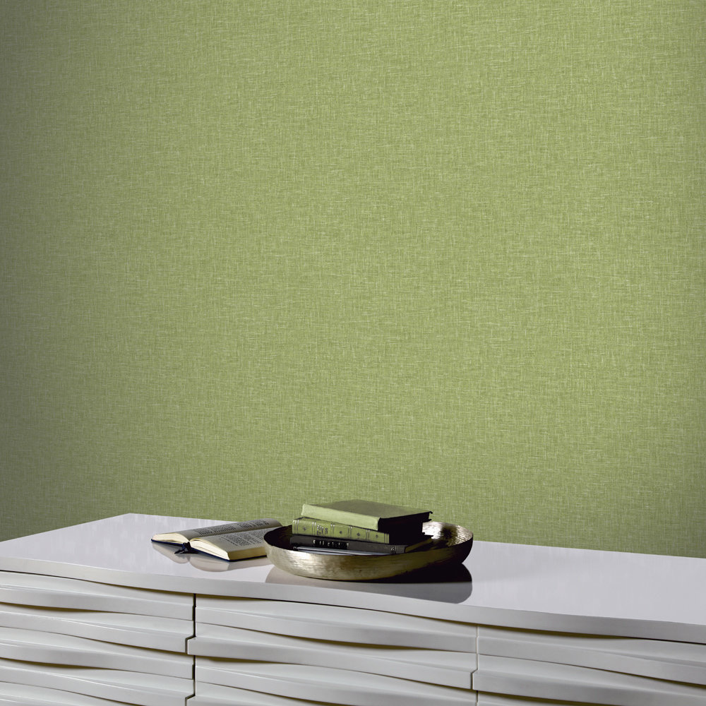 Arthouse Linen Texture Green Wallpaper - Product code: 676008