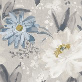Arthouse Painted Dahlia Grey Wallpaper