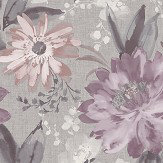 Arthouse Painted Dahlia Heather Wallpaper