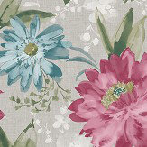 Arthouse Painted Dahlia Raspberry Wallpaper