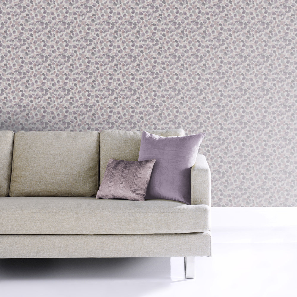 Arthouse Painted Dots Heather Wallpaper - Product code: 676109