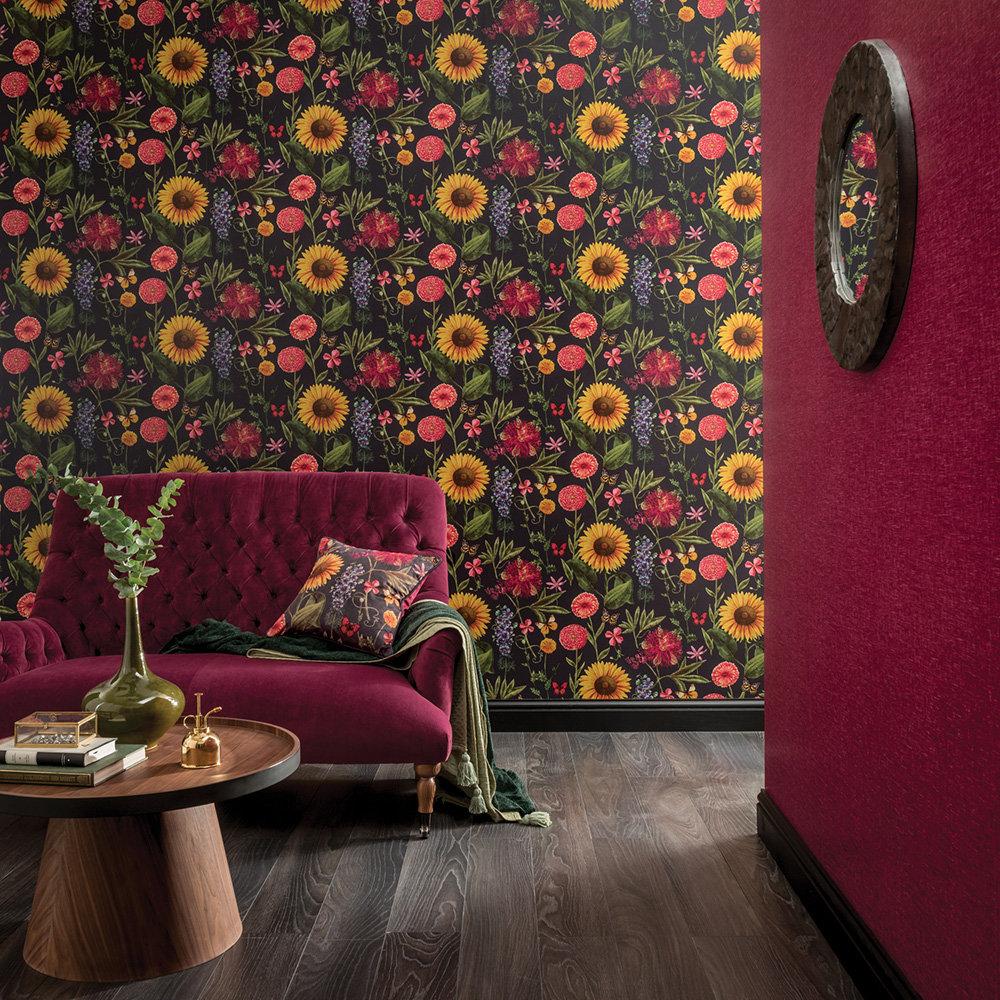 Summer Garden Wallpaper - Charcoal - by Arthouse