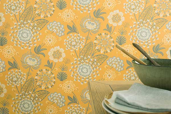 Arthouse Vintage Bloom Mustard Wallpaper