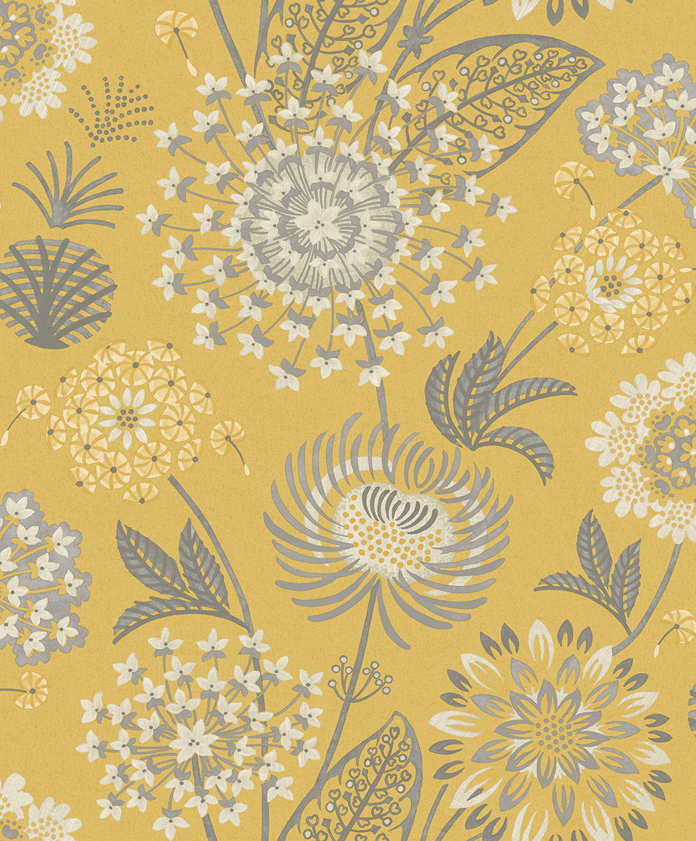 Arthouse Vintage Bloom Mustard Wallpaper main image