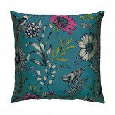 Arthouse Botanical Songbird Cushion Teal