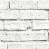 Arthouse City Brick White Wallpaper