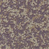 Anthology Coral Amethyst and Metallic Gilver Wallpaper