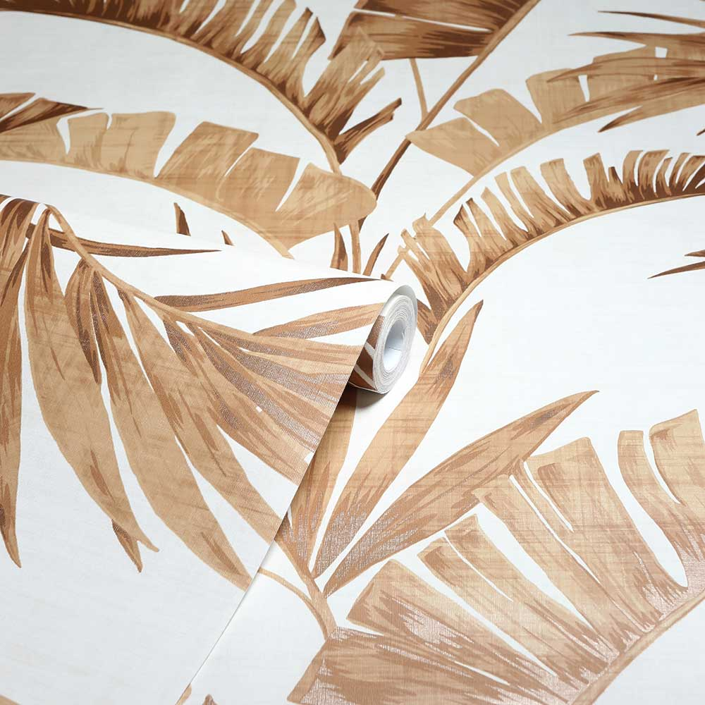 Banana Palm Wallpaper - Coffee - by Arthouse