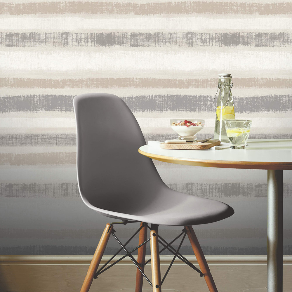 Arthouse Painted Stripe Chalk Grey Wallpaper - Product code: 610603