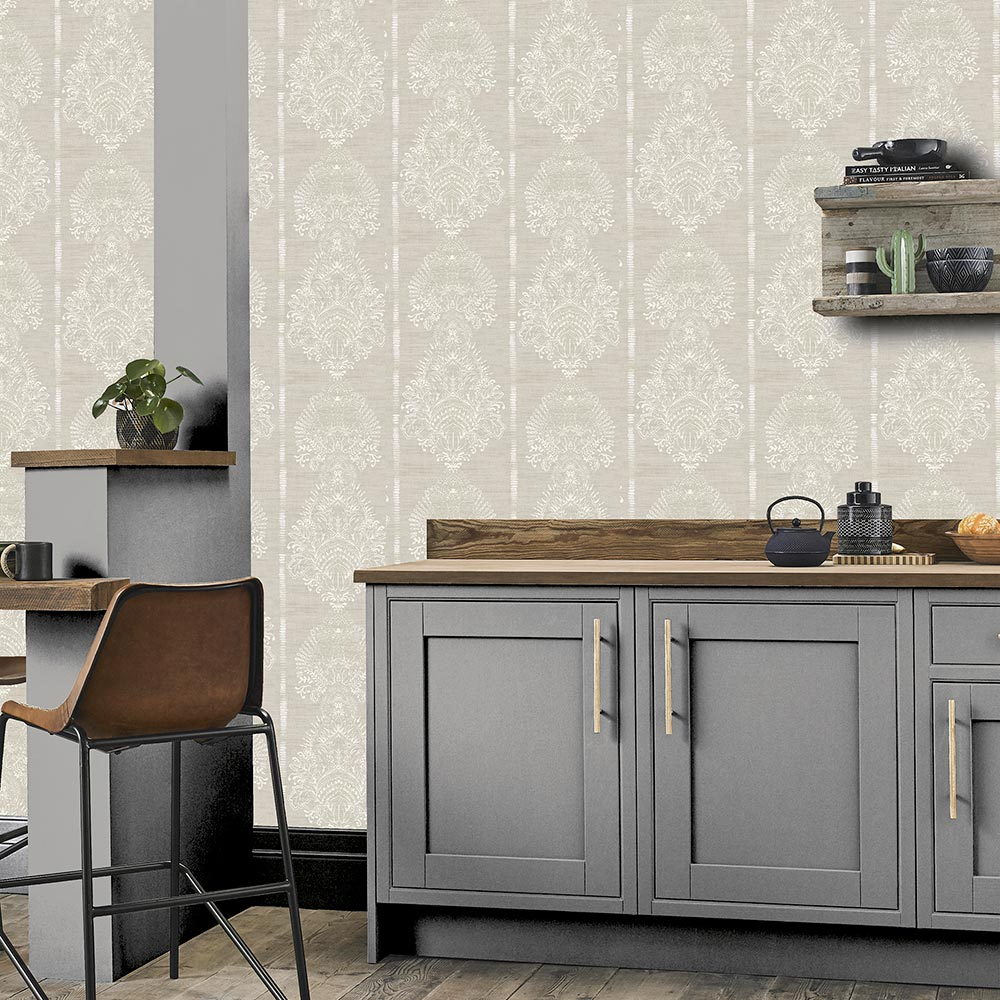 Arthouse Silk Road Damask Chalk Wallpaper - Product code: 610605