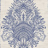 Arthouse Silk Road Damask Indigo Wallpaper