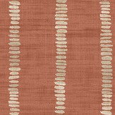 Arthouse Silk Road Stripe Terracotta  Wallpaper