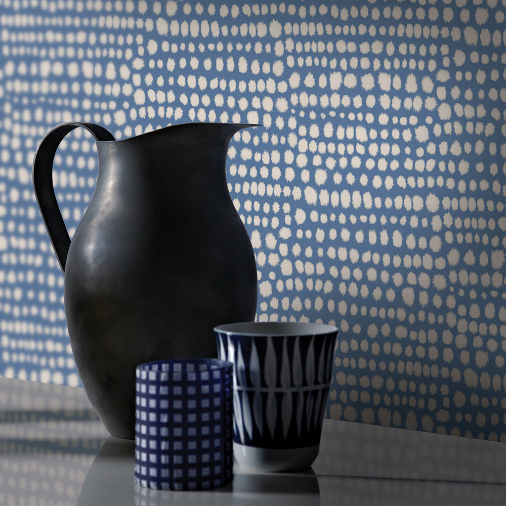 Tribal Wallpaper - Indigo - by Arthouse