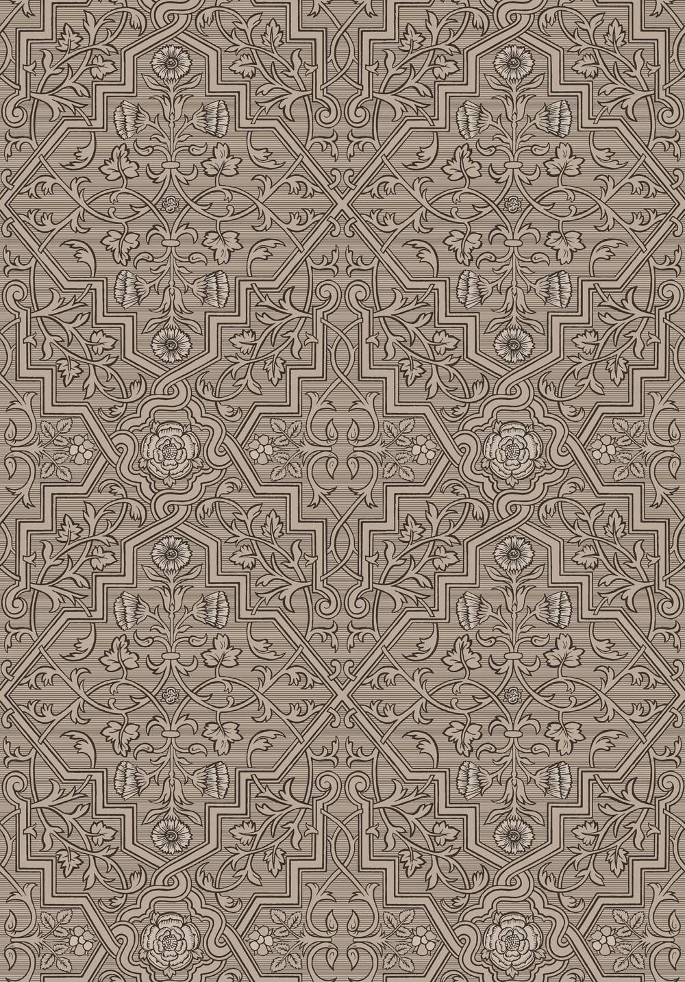 Boråstapeter Rosenvinge Brown Wallpaper - Product code: 4502