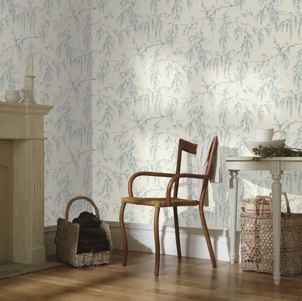 Arthouse Willow Tree Cream / Teal Wallpaper - Product code: 698206