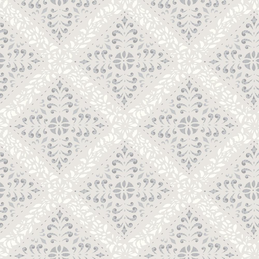 Boråstapeter Nyborg Grey Wallpaper - Product code: 4515