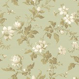 Boråstapeter Blomslinga Green Wallpaper - Product code: 4518