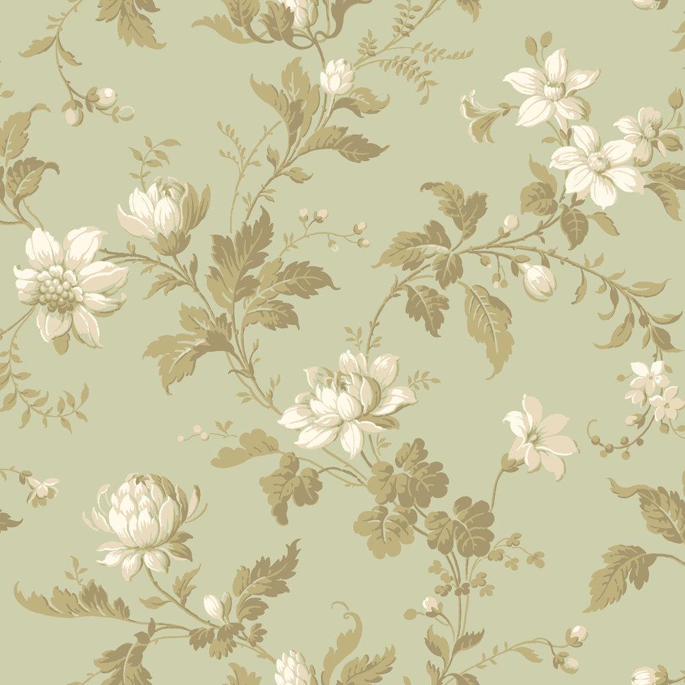 Boråstapeter Blomslinga Green Wallpaper - Product code: 4518