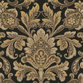 Boråstapeter Foglavik Black / Gold Wallpaper - Product code: 4522