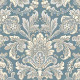 Boråstapeter Foglavik Metallic Blue Wallpaper - Product code: 4524