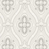 Boråstapeter Pigkammaren Silver and White Wallpaper - Product code: 4526