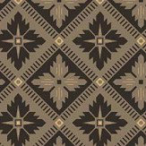 Boråstapeter Loka Black and Gold Wallpaper - Product code: 4529