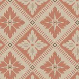 Boråstapeter Loka Burnt Orange and Beige Wallpaper - Product code: 4530