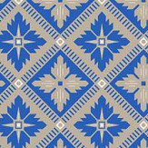 Boråstapeter Loka Vivid Blue and Beige Wallpaper - Product code: 4531