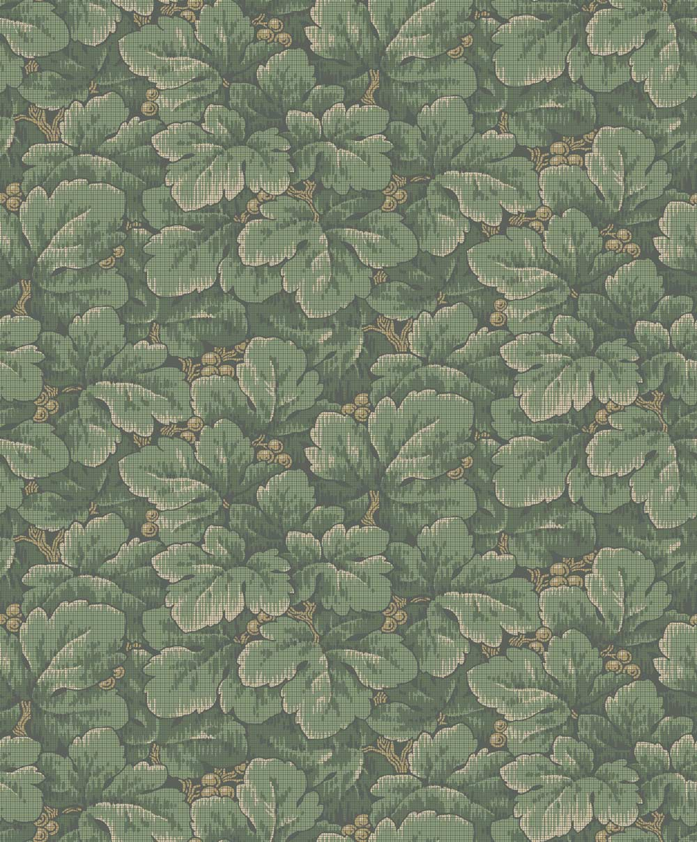Boråstapeter Waldemar Green Wallpaper - Product code: 4544