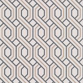G P & J Baker Boxwood Trellis Charcoal and Bronze Wallpaper - Product code: BW45082/4