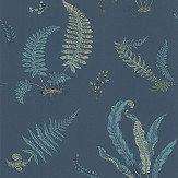 G P & J Baker Ferns Indigo and Teal Wallpaper - Product code: BW45044/9