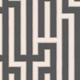 G P & J Baker Fretwork Charcoal Wallpaper