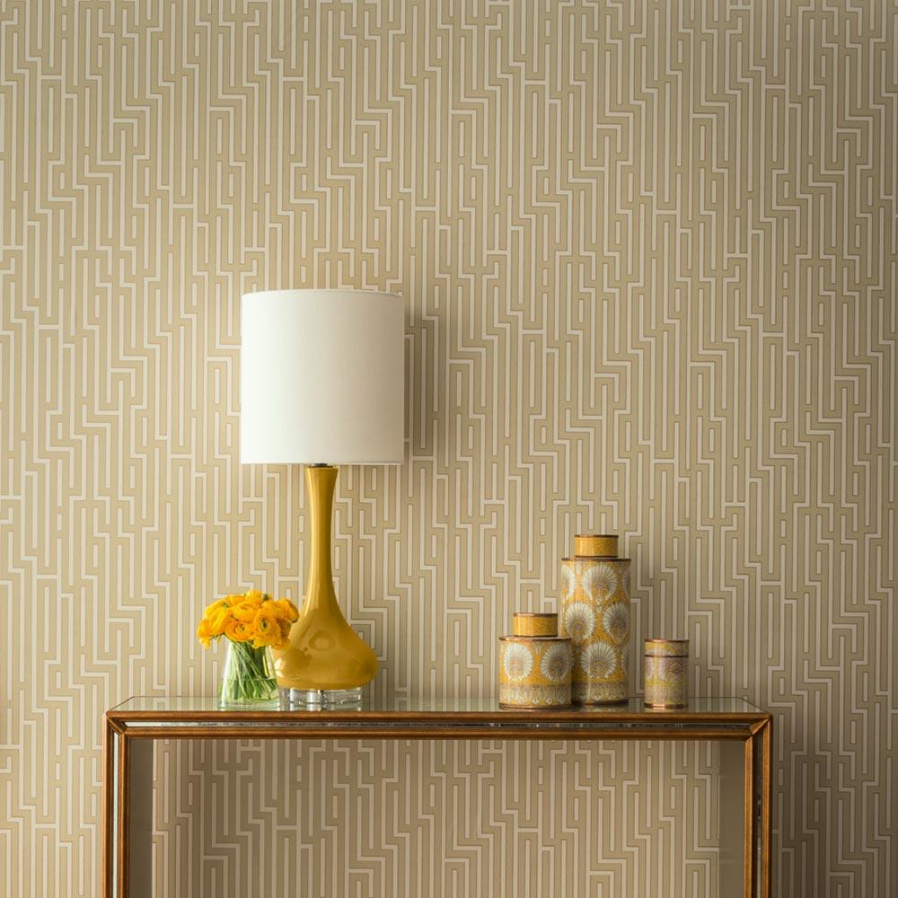 G P & J Baker Fretwork Parchment Wallpaper - Product code: BW45007/10