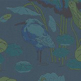 G P & J Baker Nympheus Teal Wallpaper