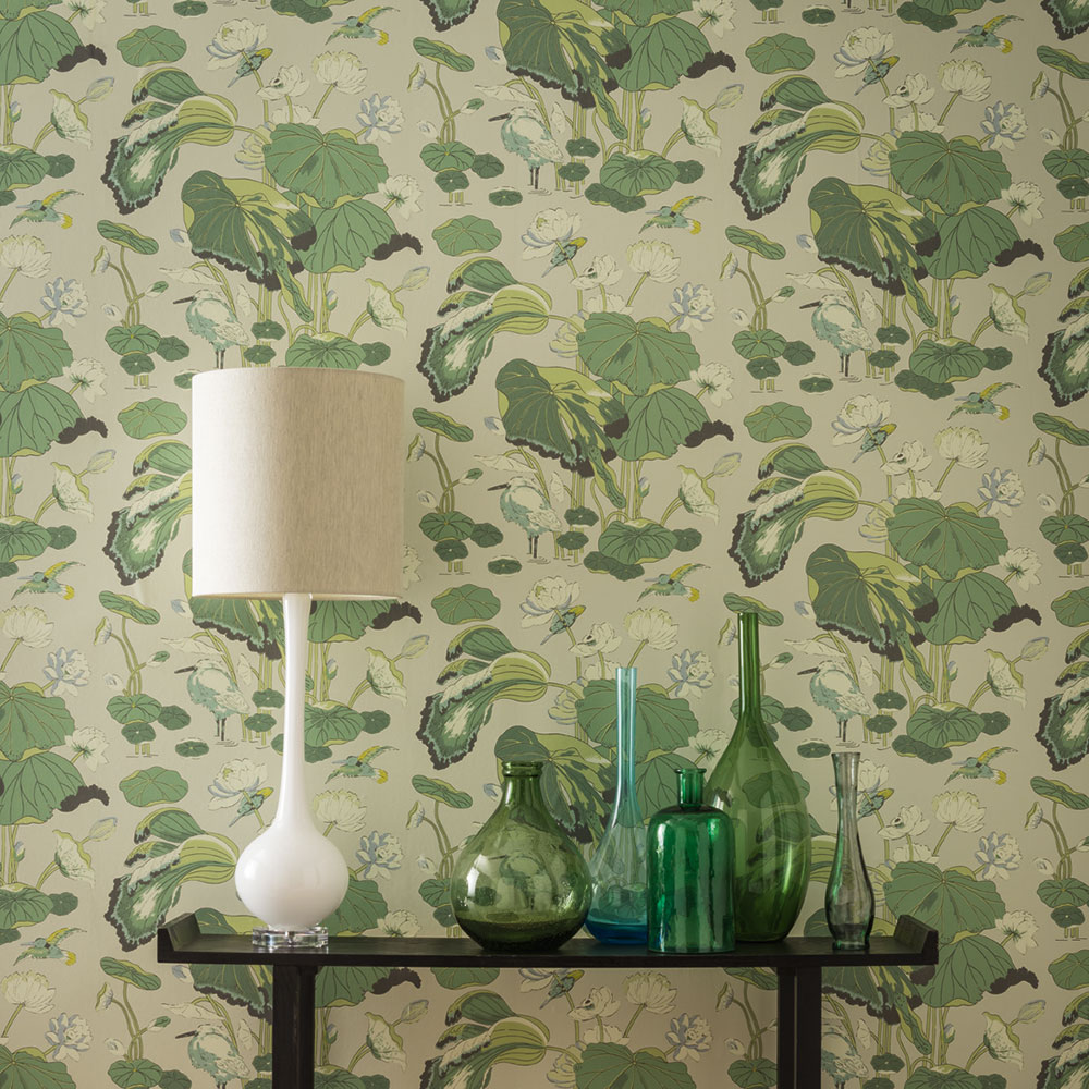 G P & J Baker Nympheus Botanical Wallpaper - Product code: BW45083/4